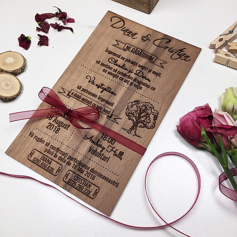 Invitaţie de nuntă Garden (2)