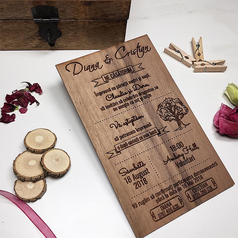 Invitaţie de nuntă Garden (3)