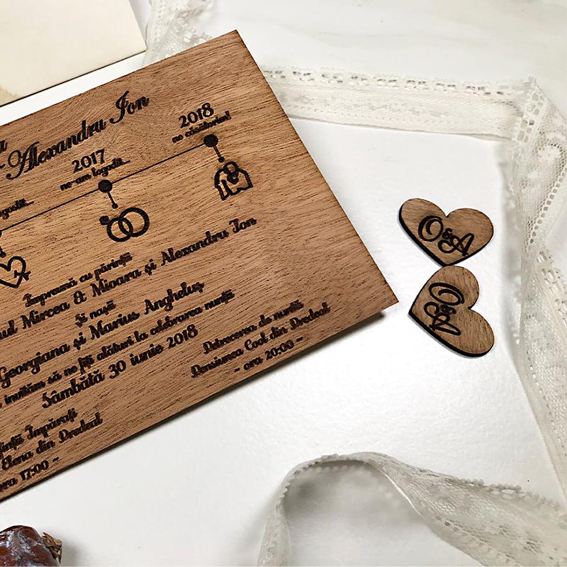 Invitaţie de nuntă premium Love Story (2)