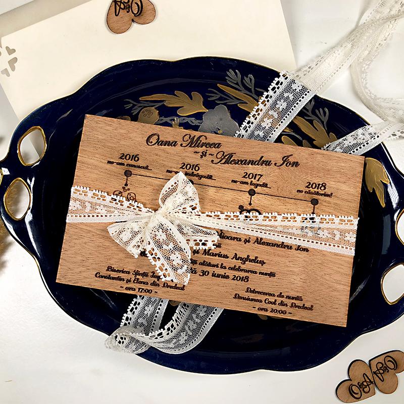 Invitaţie de nuntă premium Love Story (3)