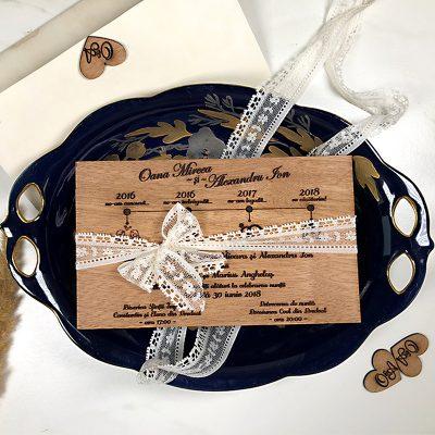 Invitaţie de nuntă premium Love Story (4)