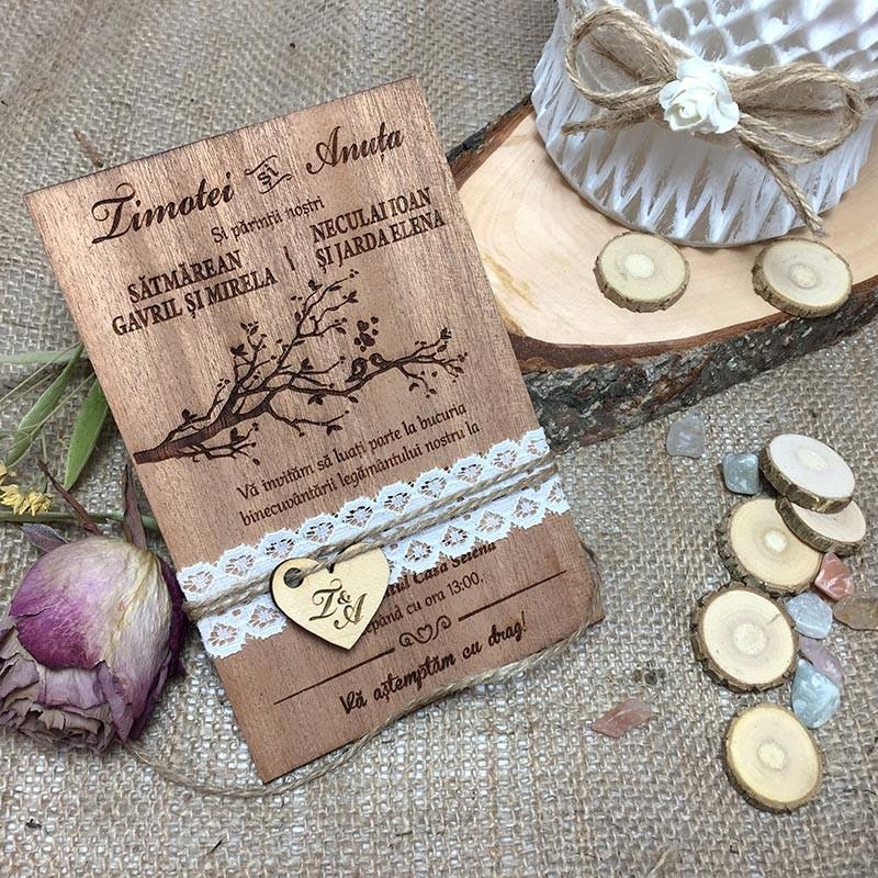invitatie-originala-de-lemn-love-birds